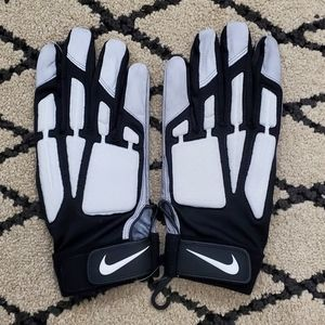 Nike D-Tack Leather Lineman Football Gloves